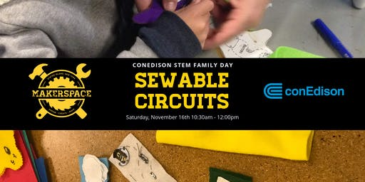 ConEd STEM Family Day: Sewable Circuits
