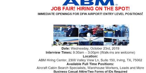 JOB FAIR! HIRING NOW! DFW AIRPORT