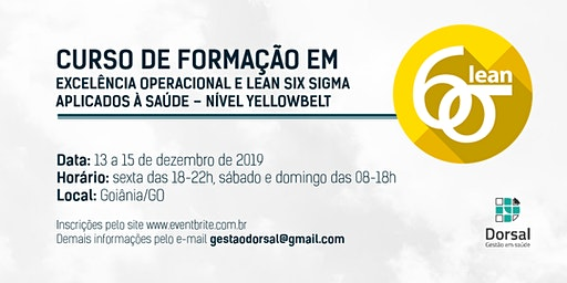 Lean Six Sigma HealthCare - YellowBelt (Goiânia)