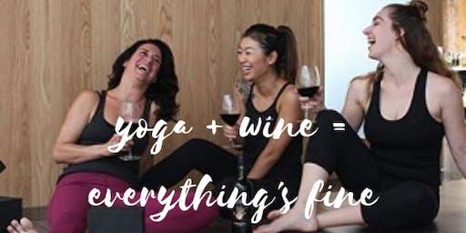 Yoga + Wine = Everything's Fine at The Beauty Loft NJ