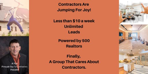 Unlimited Leads for Home Improvement Contractors: Learn More. Join Us! 8 PM