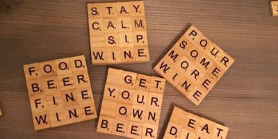 Sip & Craft: Scrabble Piece Coaster Set