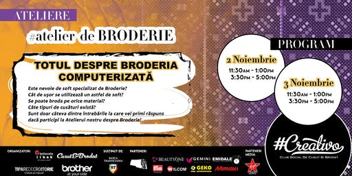 Atelier de Broderie la #Creativo de Toamna 2019