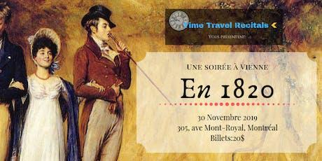 Time travel recital présente: Une soirée à Vienne en 1820 billets