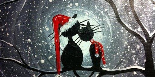 Winter Kitties Paint Party
