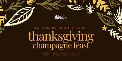 Hotel Indigo Thanksgiving Feast 2019