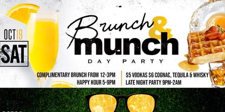 SATURDAY COMPLIMENTARY BRUNCH FROM 12 NOON - 3PM @ THE ALL NEW BAR 2200| $5 HAPPY HOUR FOOD & DRINK SPECIALS FROM 5P-9P | HOOKAH AVAILABLE |FOR INFO TEXT 832.338.3829 or DSAM09 on IG  tickets