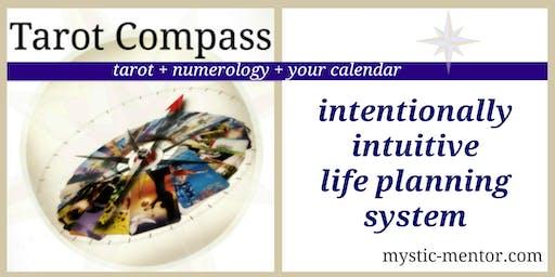 Tarot Compass Planner | tarot + numerology + the calendar = GPS to Success