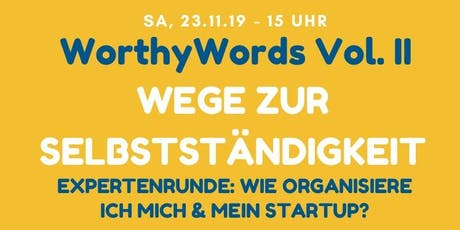WorthyWords Vol. II Tickets