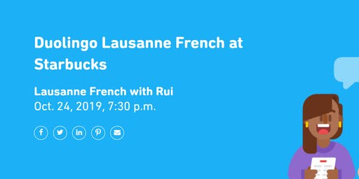 Duolingo Lausanne French at Starbucks