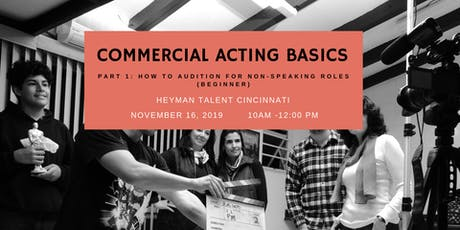 Commercial Acting Basics (Part 1) tickets