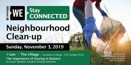 Neighbourhood Clean-up Hosted by WE Stay Connected