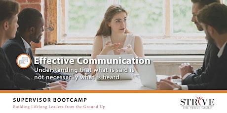 Effective Communication tickets