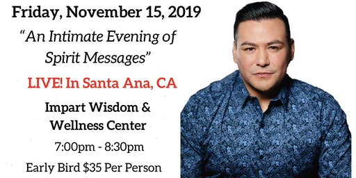 An Intimate Evening of Spirit Messages with Psychic Medium A.J. Barrera