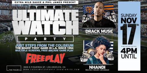 The Ultimate Watch Party & After Party:  Bears vs Rams