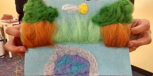 Drawing with Felt: Beginner 2D Mini Felt Tapestries for Teens and Adults