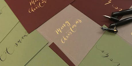 Christmas Coloured Inks Calligraphy Workshop tickets