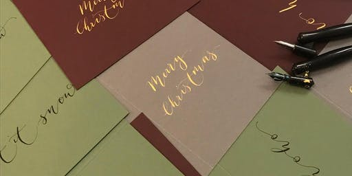 Christmas Coloured Inks Calligraphy Workshop