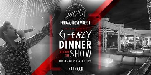Dinner Before the Show: G-Eazy