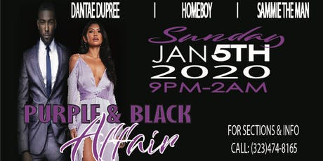 PURPLE AND BLACK AFFAIR  tickets