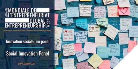 Innovation sociale : un panel | Social Innovation Panel billets