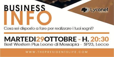 Business Info Lecce biglietti