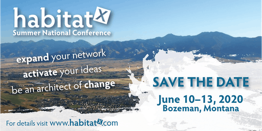 2020 Habitat X Summer National Conference