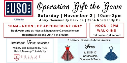 USO GIFT the GOWN | November 2