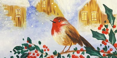 Little Robin Paint, Pies & Prosecco Brush Party - Milford