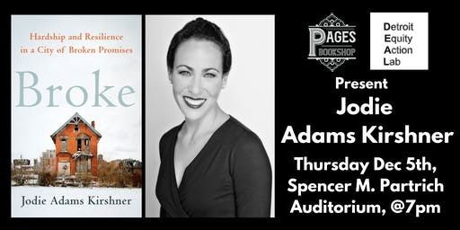 Pages Bookshop & the Detroit Equity Action Lab Present Jodie Adams Kirshner