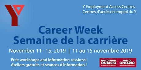 Y Career Week 2019 (West location) / Semaine de la carrière du Y 2019 (Site Ouest)  tickets