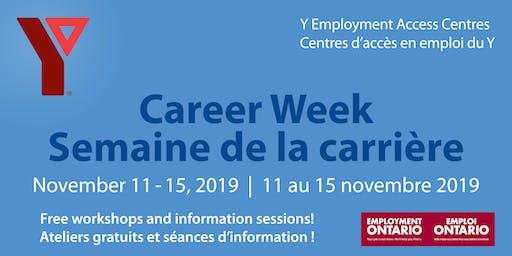 Y Career Week 2019 (West location) / Semaine de la carrière du Y 2019 (Site Ouest)