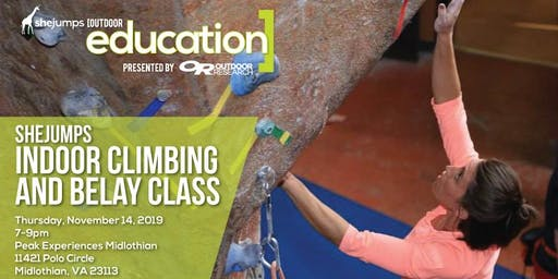 VA SheJumps Indoor Climbing and Belay Class