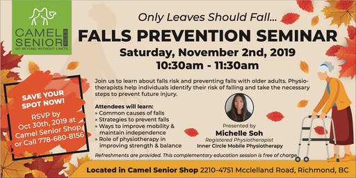 Falls Prevention Seminar (Limited Seats Available)