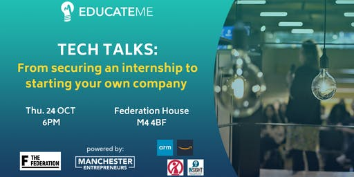 TECH TALKS: From securing an internship to starting your own company