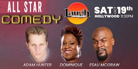 Dominique, Adam Hunter, and Esau McGraw - All-Star Comedy tickets