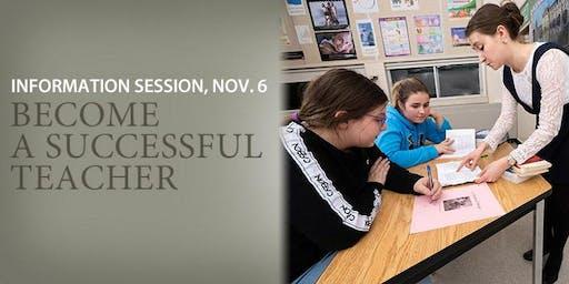 Pursue a successful career in teaching