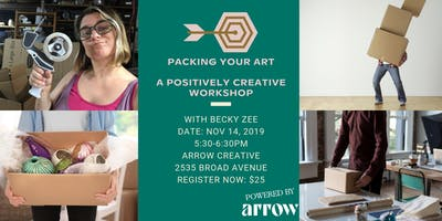 Packing Your Art  with Becky Zee - A Positively Creative Workshop