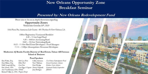 New Orleans Opportunity Zone Breakfast Seminar