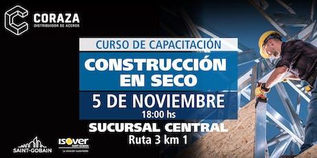 Coraza Capacitación construcción en seco San Luis entradas