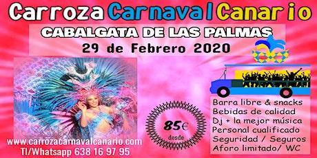 Entradas Carroza Carnaval Las Palmas 2020 entradas