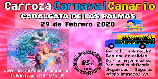 Entradas Carroza Carnaval Las Palmas 2020