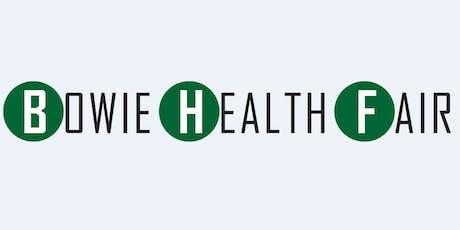 2020 Bowie Health Fair Sponsorship tickets