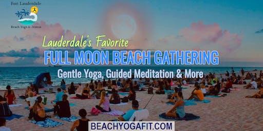 Full Moon Beach Gathering: Yoga. Meditation & More | $10 @ door