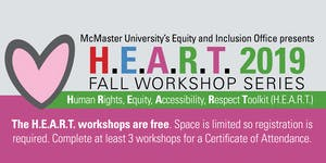 H.E.A.R.T. 2019 Fall Workshop Series - Supporting...