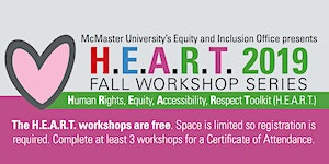 H.E.A.R.T. 2019 Fall Workshop Series - An Intro. to...
