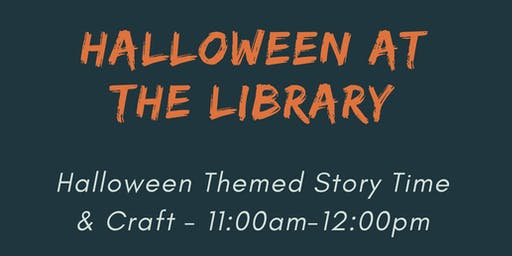 Halloween at the Library - Storytime and crafts