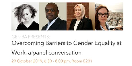 Overcoming Barriers to Gender Equality at Work tickets