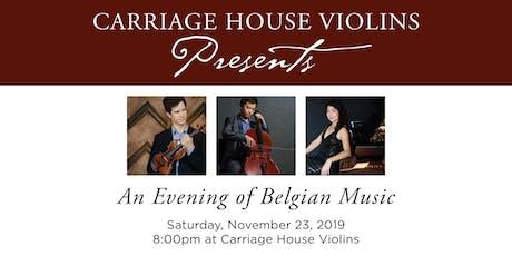 An Evening of Belgian Music tickets