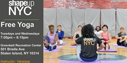 Greenbelt Recreation Center : Free Yoga with Shape Up